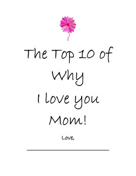 Mother's Day Top 10 Reasons