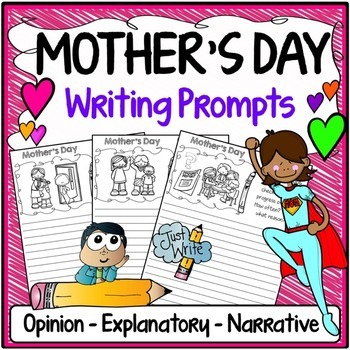 Mother's Day Writing Prompts {Narrative Writing, Informati