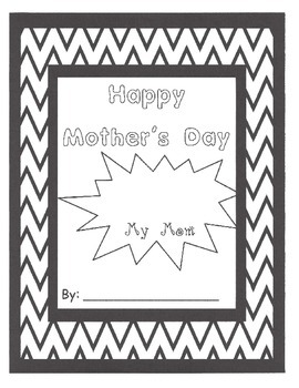 Mother's Day Writing Activity Packet
