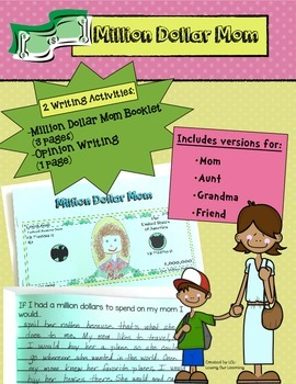 Mother's Day Writing- Million Dollar Mom!