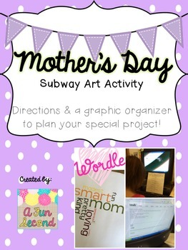Mother's Day (or Father's Day!) Subway Art Writing Project