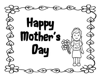 Mother's Day printable with activities and a song