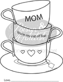 Mother's You're My Cup Of Tea Craft and Activity