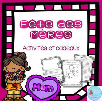 FRENCH Mother's day / Fête des mères Activity in french (f