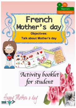 Mother's day in French for beginners booklet NO PREP
