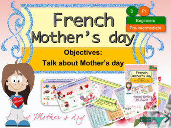 Mother's day in French for beginners bundle (powerpoint-bo