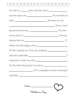 Mother's&Father's Day Writing Activitiy