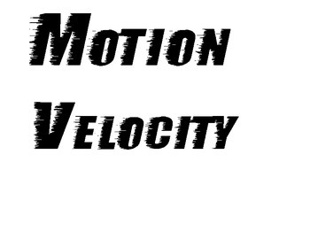 Motion and Force - Newton's Laws (Vocab Word Wall and Esse