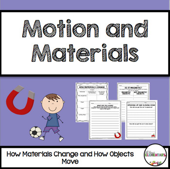 Motion and Materials Pack for First Grade