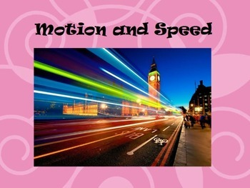 Motion and Speed Lesson Flipchart