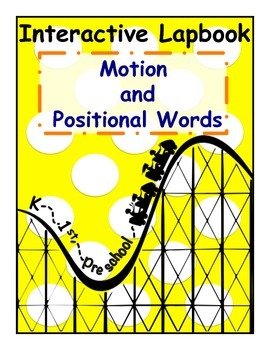 Motion/Positional Words Interactive Lapbook for PreK, K, &