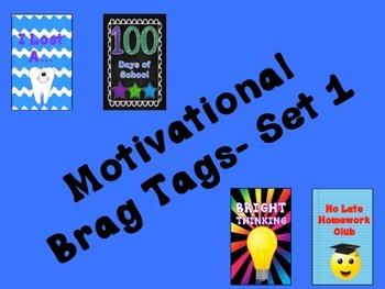 Motivational Brag Tags Set 1