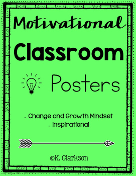 Motivational Classroom Posters