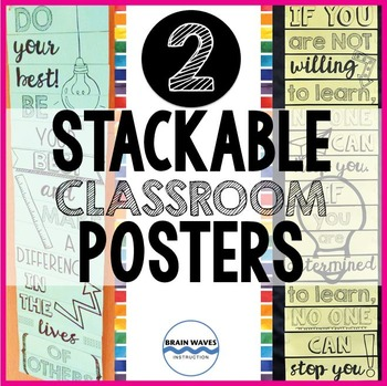 Motivational Classroom Posters – Stackable Posters with In