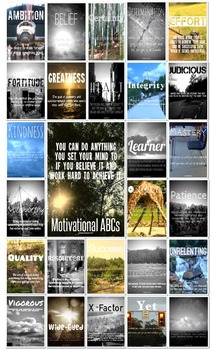 Motivational/Growth Mindset ABCs (Vol 1 & 2) Preview