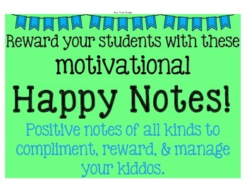 """Reward with motivational """"Happy Notes"""""""