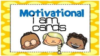 Motivational I Am cards