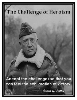 Motivational Poster General Patton Quote / Grade 8 Springb
