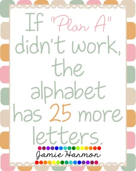 """Motivational Poster: If """"Plan A"""" Doesn't Work"""