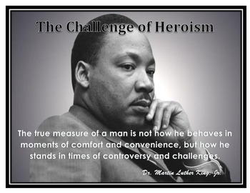 Motivational Poster Martin Luther King, Jr Quote / Grade 8