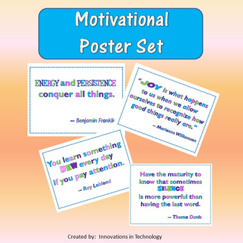 Motivational Poster Set