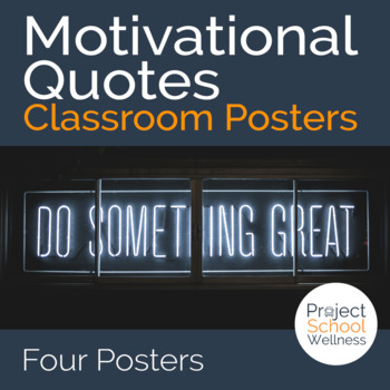 Motivational Posters (Growth Mindset Quotes, Classroom Pos