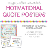 Motivational Posters & Target Adhesive Labels
