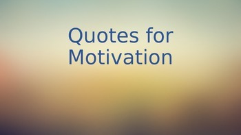 Motivational Quote Graphics for Students (Sampler)
