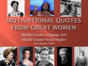 Motivational Weekly Quotes From Great Women ELA/SS