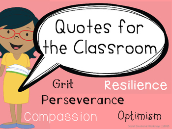 Quotes from the Classroom: Promoting Grit and Resilience