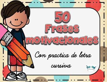 Motivational Quotes in Spanish - Cursive Practice