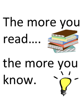 Motivational Read Poster: The More You Read, The More You