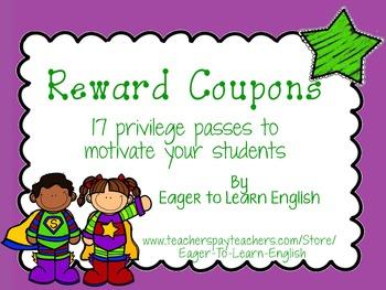 Motivational Reward Coupons (in English)