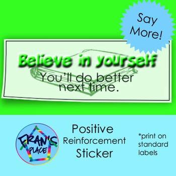Work Habits Helper! Motivational Sticker.  Print on Labels