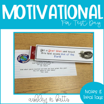 Motivational Test Treats and Notes