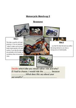 Motorcyle Match-up Activity