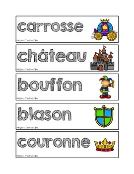 Mots-étiquettes des châteaux