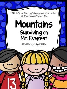 Mountains: Surviving on Mt. Everest Journey's Activities T