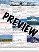 Mountains Worksheet