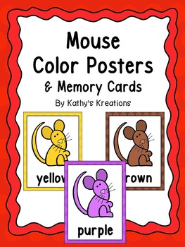 Mouse Color Posters And Memory Cards