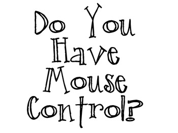 Mouse Control & Save vs. Save as
