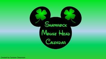 Mouse Ears St. Patrick's Day Calendar