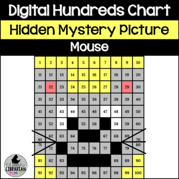 Mouse Hundreds Chart Hidden Picture Activity for Math or F