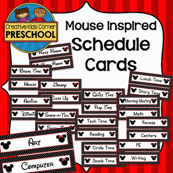 Mouse Inspired Schedule Cards
