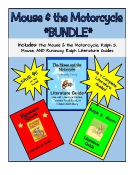 Mouse & the Motorcycle *Bundle* of Literature Guides - Ali