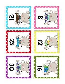 Mouse Number Cards