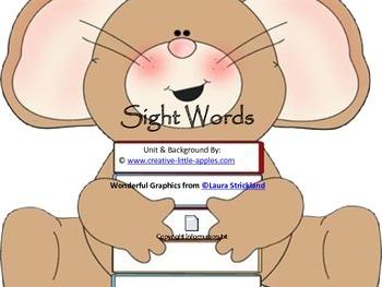 {Mouse Theme} PreK and Kinder. Pre-Primer Word Set- Simple