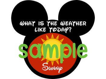 Mouse de Mickey Weather Graphics
