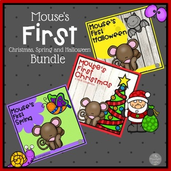 Mouse's First Holiday Set of Three SPRING HALLOWEEN AND CH