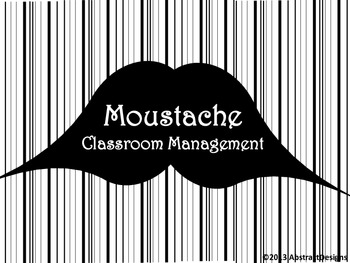 Moustache Classroom Management Set